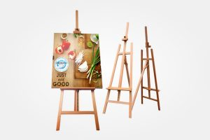 Easel Stand with Visual Sign Board