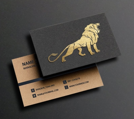 Visiting Card Gold & Silver Plated & Foiled