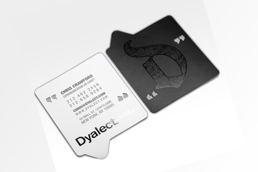 Visiting Card Custom Shape