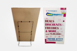 MDF Board (3mm) Standee. Size 2.5 X 5 Feet with Back Stand