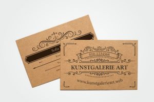 Visiting Card Kraft Paper