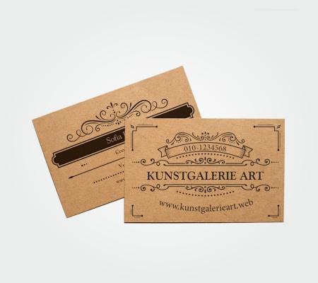 Visiting Card Kraft Paper